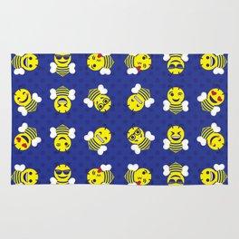 Yellowjacket Emojis Rug