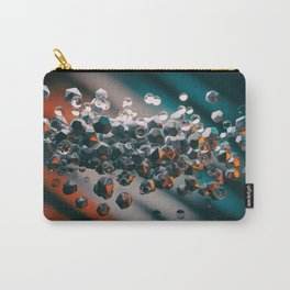 Abstract background with 3D primitives Carry-All Pouch