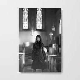 WITCH IN THE BONEYARD Metal Print