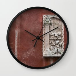 winged lion an birds on  wall Venice Italy Wall Clock