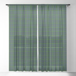 MacBride Tartan Plaid Sheer Curtain