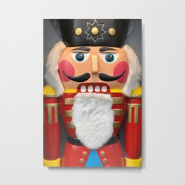 Nutcracker Christmas Design - Illustration Metal Print