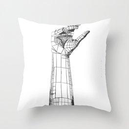 Planar Hand Throw Pillow