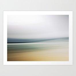 Long Exposure Beach Shoreline abstract. Art Print