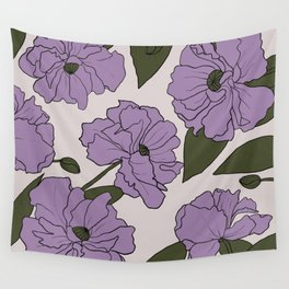 Purple poppies Wall Tapestry