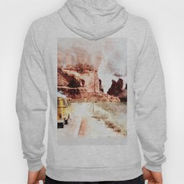 Bus Road Trip Abstract Hoody