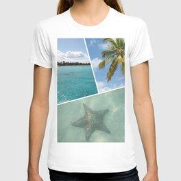Caribbean Photo Collage - Isla Saona T-shirt