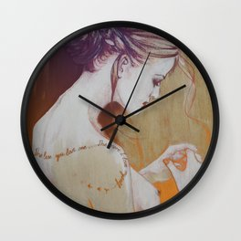 The less you love… (the more I love myself) Wall Clock