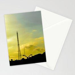 Silhouette Urban Scene, Guayaquil, Ecuador Stationery Cards