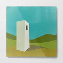 Simple Housing - A love tower Metal Print