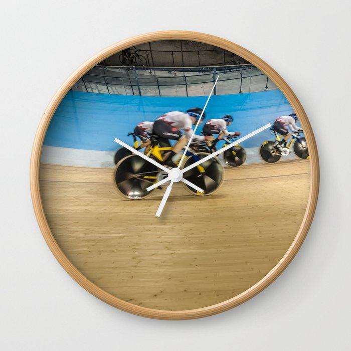 Velodrome Cycling Wall Clock