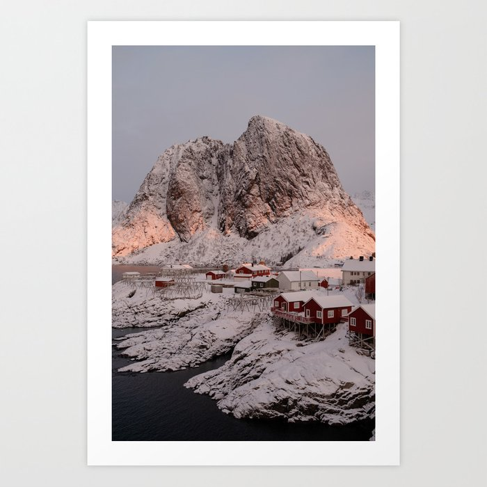 Sunrise Over Hamnøy, Norway Art Print