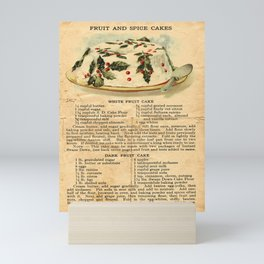 Fruit Cakes - Vintage Mini Art Print