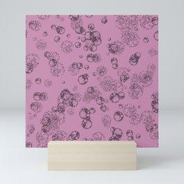 Arabidopsis protoplast cell microscopy pattern magenta Mini Art Print