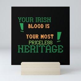 St Paddy - Luck Of The Irish - Quote 49 Mini Art Print