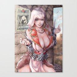 Assassin's xxx 2 female version sexypost Canvas Print
