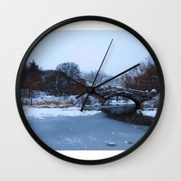white Central Park Wall Clock
