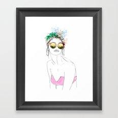 Havana Blues WHITE Framed Art Print