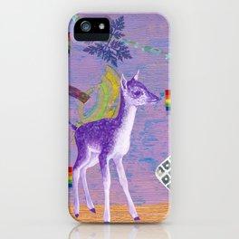 rainbow deer 1 iPhone Case