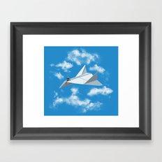 Paper Airplane Framed Art Print