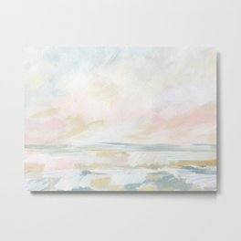 Golden Hour - Pastel Seascape Metal Print