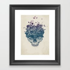 My head is a jungle Framed Art Print