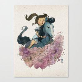 Blue Horse Year 2014 Canvas Print