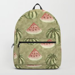 Fresh Vegan Abstract Watercolor Watermelon Backpack