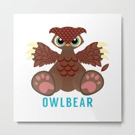 Owlbear Metal Print