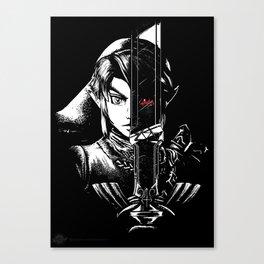 A Hero's Dark Reflection Canvas Print