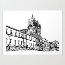 Monastery II Art Print