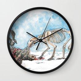 Presa y carroñeros Wall Clock