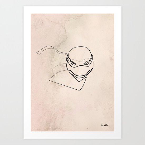 One line TMNT Art Print