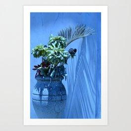 Blue Mood Vase Art Print