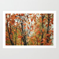 Autumnal screen Art Print