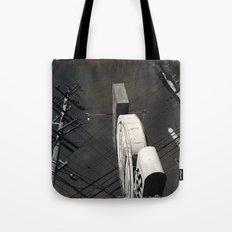 The Wizz take 2, Black and White San Francisco Tote Bag