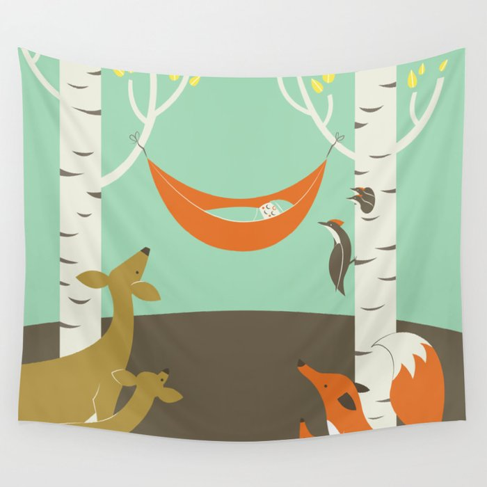 Woodland Baby Wall Tapestry
