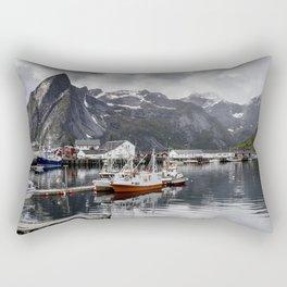 Lofoten Islands, Norway Mountain Landscape Rectangular Pillow
