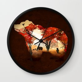 Bears in the Woods Wall Clock