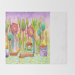 Dream Garden 2 Throw Blanket