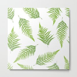 Fern seamless pattern Metal Print