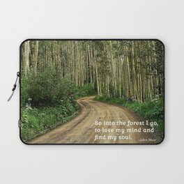Into the Woods I Go To Find My Soul Laptop Sleeve