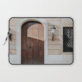 Authentic Door In Carratraca | Old Doors Photography | Weathered Old Door  Laptop Sleeve