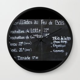 French menu Wall Clock