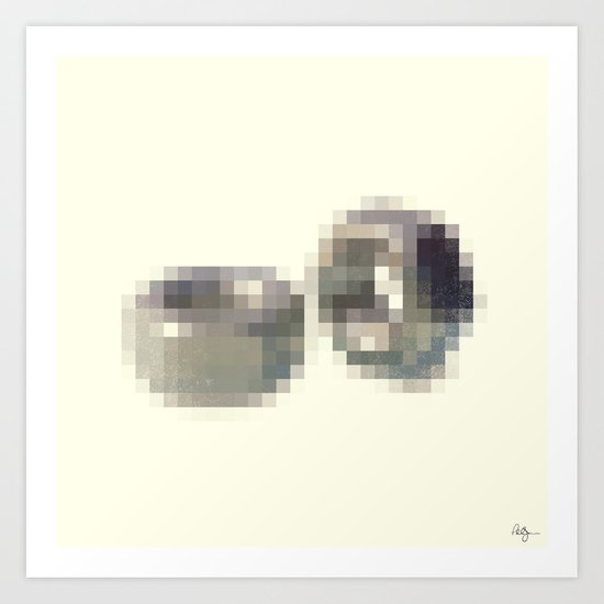 Censored Hardware Fasteners Art Print