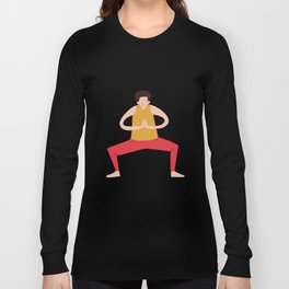Yoga Girls blue lines Long Sleeve T-shirt