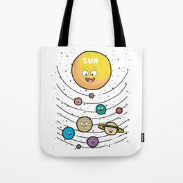 SOLAR SYSTEM FOR KIDS WITH SUN Planet Tote Bag
