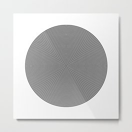 Hypnotic Circles optical illusion Metal Print