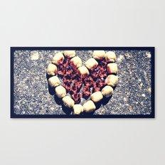 Rock Heart Canvas Print
