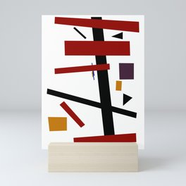 Geometric Abstract Malevic #15 Mini Art Print